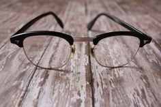 Vintage 1950's Black Horn Rim Eyeglasses by pursuingandie, $48.50