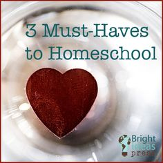 Three Must-Haves to Homeschool
