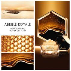 Must Have - Gel Masque Guerlain Abeille Royale  Infusez douceur et volupté à votre peau avec le Masque Gel Miel Réparateur de la gamme Abeille Royale. Découvrez les bénéfices remodelants du miel de l'Abeille Noire de l'île d'Ouessant, dans un nouveau geste gourmet dédié aux peaux gourmandes de beauté...  50ml: 267dt900  #Fatales #Soin #AbeilleRoyale #Guerlain