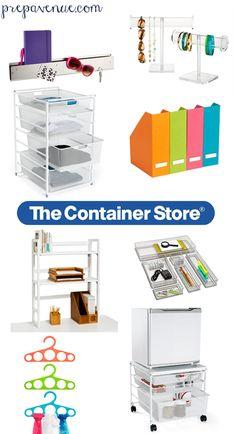 The Container Store, perfect for college dorms! | www.prepavenue.com