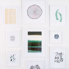 How to create an elusive and clean gallery wall.