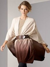 Sometimes it is more like a poncho. Anyway, it is a powerful and sexy way of wrapping up! When worn with a pair of jeans, a sweater wrap adds chic, grown up style to a very casual look.