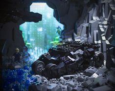 Dark Knight Rises Batcave Tumbler - Brent Waller Lego Dc, Lego Batman, Tumbler Designs, The Dark Knight Rises, Batcave, Dc Heroes, Inspiration, Biblical Inspiration, Motivation