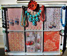 Jewelry Organizer Window Jewelry Holder by SimplySophiaMaria 9900