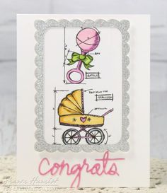 Baby Blueprints Card by @sharon_harnist for the #EllenHutsonLLC blog. #EssentialsbyEllen #ZipperPanel