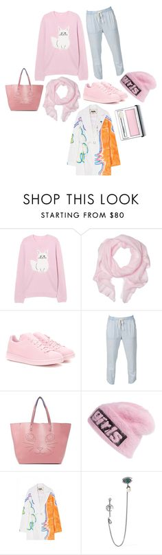 """Road cruising"" by perpetto ❤ liked on Polyvore featuring Love Quotes Scarves, adidas Originals, Paul & Joe Sister, Alexander Wang, Alex Mullins, Alexander McQueen and Clinique"