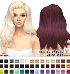 Alesso/Cool Sims Omen Hair retexture at Miss Paraply via Sims 4 Updates Check… Sims 4 Curly Hair, Sims Hair, Curly Hair Styles, Sims 4 Cas, My Sims, Sims Cc, Sims 4 Characters, Alesso, The Sims 4 Download