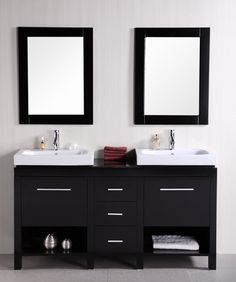 Bathroom Vanities Two Sinks small double vanity, contemporary, bathroom, the design company