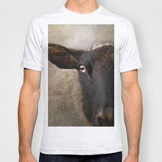 In a sheep's eye T-shirt