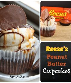 Reese's Peanut Butter Cupcakes Here's an EASY Reese's Peanut Butter Cupcakes Recipe for you to try! Part homemade and part from a box!Best Best or The Best may refer to: Reeses Peanut Butter Cupcakes, Butter Cupcake Recipe, Cupcake Recipes, Cupcake Cakes, Dessert Recipes, Box Cupcakes, Cup Cakes, Reeces Cupcakes, Caramel Cupcakes