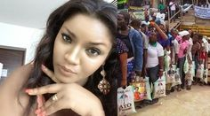 Omotola blast politician over sharing of rice to seek election, It's bribery and corruption (Photos)