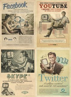 Vintage Social Networking #socialmedia