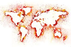 Abstract World Map Wallpaper