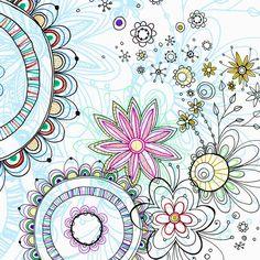 #doodle, # zendoodle, doodles- Pixie Flowers