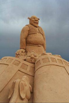 Shrek - FIESA Sand Sculpture Festival in Portugal
