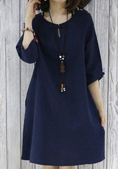 2016 navy sundress cotton summer dresses plus size blouse maternity dress in - Trend Maternity Style 2020 Simple Dresses, Cute Dresses, Casual Dresses, Summer Dresses, Loose Dresses, Plus Size Maternity Dresses, Plus Size Dresses, Linen Dresses, Cotton Dresses