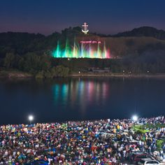 Grand Haven, MI - ? photographer Musical Fountain - Judging from the crowds, Coast Guard Festival #michiganlove