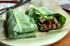 Quick and Easy Wrap Recipes Collard Green Wraps with Shrimp and Black Beans