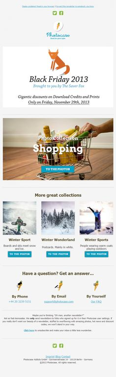 Photocase – Newsletter HTML email marketing design