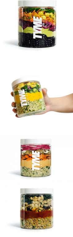 Tyme Fast Food Delivers Healthy Meals In Reusable Jars — The Dieline | Packaging & Branding Design & Innovation News