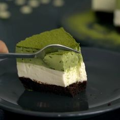 Matcha White Chocolate Mousse Cake - a sophisticated chocolate dessert with a great balance between bitter and sweet Matcha Dessert, Matcha Cake, Matcha Mousse Cake Recipe, Green Tea Dessert, Green Tea Recipes, Sweet Recipes, White Chocolate Mousse Cake, Cake Chocolate, White Chocolate Desserts