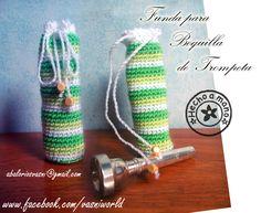 Funda de ganchillo para boquilla de trompeta.  www.facebook.com/vasniworld