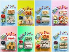 Forget lunch boxes filled with boring stuff!!! Here are two whole weeks of lunch box ideas that aresuper easy to make and kids will love to eat! You won't find any sandwiches here, just SIM…