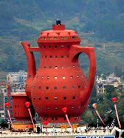 A Maior monumento Bule - O Museu do Chá Meitan estabelece Recorde Mundial