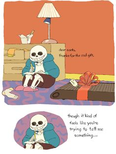 I still think that letter was from Papyrus to Sansta but this is adorable