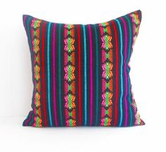 Black Pillow Tribal Pillows Covers Colorful by CityGirlsDecor