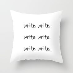 The Usual Advice for a Writer Throw Pillow