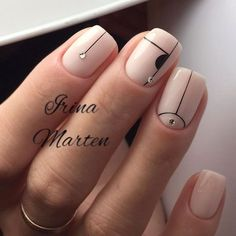 Cute Nail Designs for Short Nails You Definitely Need to Try - . - Cute Nail Designs for Short Nails You Definitely Need to Try – - Minimalist Nails, Short Nail Designs, Cute Nail Designs, Pretty Nails, Fun Nails, Manicure For Short Nails, Nail Design For Short Nails, Simple Nail Design, White Manicure