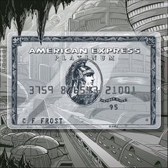 Here we bring you a gallery of more than 30 images of credit cards with unique designs and interesting, with what American you give us?