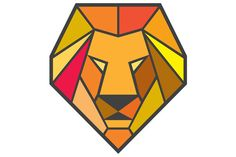 Lion Head Low Polygon Low polygon style illustration of a lion big cat head viewed from front set on isolated white background.The zipped file includes editable vector EPS, hi-res JPG and PNG image. #illustration #LionHead