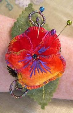 Pins & Pansy Pincushion by Robyn Alexander