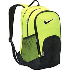 6c6eb1eb1eaf Nike Brasilia 5 XL Backpack - Volt Black (Black) - via eBags.com!