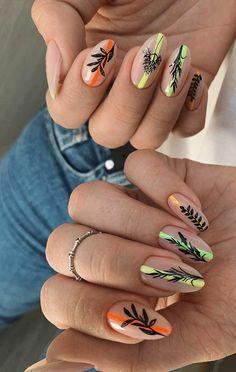 diy nails at home Summer Acrylic Nails, Best Acrylic Nails, Spring Nails, Stylish Nails, Trendy Nails, Long Round Nails, Milky Nails, Fire Nails, Happy Nails