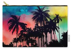 Carry-all Pouch featuring the painting Tropical Colors by Mark Ashkenazi