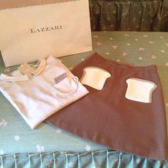 lazzari store / breakfast on the sweater, gorgeous idea!