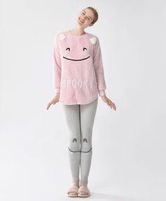 533b1b471f440 Pantalón monstruos - Gráficos - Tendencias AW 2016 en moda de mujer en Oysho  online
