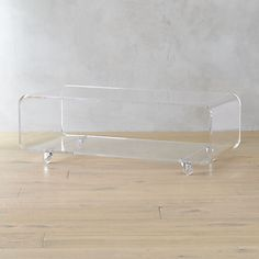 peekaboo acrylic coffee table | CB2
