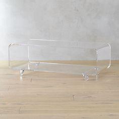peekaboo acrylic coffee table | CB2