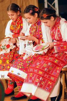 Croatia - those embroidered skirts!!!