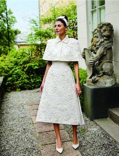 Giovanna Battaglia in Thom Brown wedding dress
