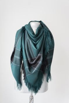 Blanket Blanket Scarf Tartan Scarf Plaid Scarf Oversized Scarf  Teal Scarf Accessories Scarves Valentine's Gift Ideas For H by Oxoo on Etsy https://www.etsy.com/listing/267803827/blanket-blanket-scarf-tartan-scarf-plaid