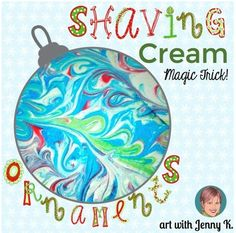 FREE- Kids love making these festive marbleized paper ornaments for the holidays. How-to video included!!