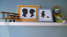 Love the silhouette of the little boy - #projectnursery #franklinandben #nursery