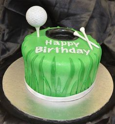 www.facebook.com/TheCakeArtists hand painted golf birthday cake  #hand-painted #happy-birthday #cake #the-cake-artists #golf