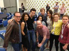 SDCC 2013 - Clark Gregg, Ming Na, Joss Whedon, Iain De Caestecker, Brett Dalton, Chloe Bennet, Elizabeth Henstridge, Maurissa Tancharoen and Jed Whedon - Agents Of S.H.I.E.L.D.