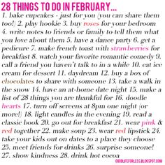 jillgg's good life (for less) | a style blog: 28 things to do in February...